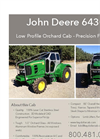 John Deere 6430 Low Profile Orchard Cab Brochure