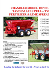 Model 10-PTT-FT - Tandem Axle Pull-Type Fertilizer/Lime Spreader Brochure