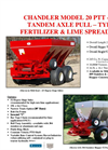 Model 20-PTT-FT - Tandem Axle Pull Type Lime and Fertilizer Spreader Brochure