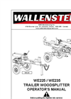 Wallenstein - Model WE225 - Trailer Log Splitters Manual