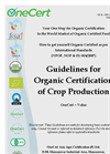 Organic Guidelines for Crop Production Brochure