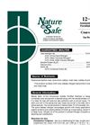 Nature Safe - Model 12-0-6 - Ammonium Sulfate Fortified Fertilizer Brochure