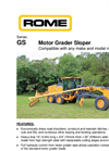 Model GS - Motor Grader Sloper Brochure