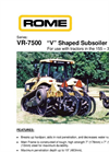 Model VR - 7500 - V Shaped Subsoiler Ripper Brochure