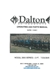 Dalton - Model D Series - 3-Point Anhydrous Ammonia Toolbars Manual