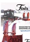 Snocrete - Agricultural Snowblowers Brochure