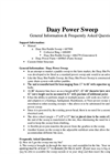 Koyker - Daay Power Sweep Brochure