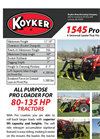 Koyker - Model 1545 PRO - Universal Loader - Brochure