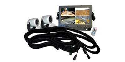 AgCam - Model DMAC-7MQ-C2 - 7in Quad Monitor Double Camera Kit