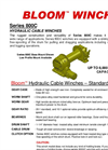 Bloom - Model Series 800C - Hydraulic Cable Winches - Datasheet