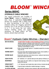 Bloom - Model Series 800HC - Hydraulic Cable Winches - Datasheet