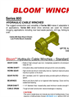 Bloom - Model Series 800 - Hydraulic Cable Winches - Datasheet
