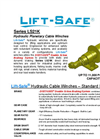 Lift-Safe - Model Series LS21K - Hydraulic Planetary Cable Winches - Datasheet