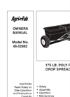 Agri-Fab - Model 175 lb- 45-0288 - Tow Drop Spreader Manual