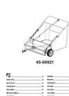 "Agri-Fab - Model 44- 45-0492 - 44"" Lawn Sweeper Manual"