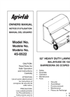 "Agri-Fab - Model 45-0522 - 52"" Lawn Sweeper Brochure"