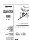 Agri-Fab - Model 130 lb - 45-0463 - Tow Spreader Manual