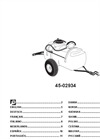 Agri-Fab - Model 45-0293 - 25 Gallon Tow Sprayer Manual