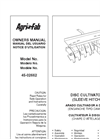Agri-Fab - Model 45-0266 - Sleeve Hitch Disc Cultivator Manual