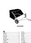 "Agri-Fab - Model 45-0320 - 42"" Tow Lawn Sweeper Manual"