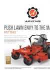 Model Apex Series - Zero Turn Mowers Brochure