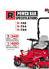 BigDog Mowers - R Power Bar - High Blade-Tip Speed Mower Specfications