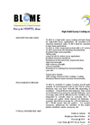 Blome - Model TL-40-S - High-Build Epoxy Coating and Lining System - Datasheet