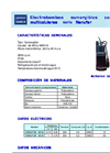 NENUFAR - Multicellular Centrifugal Submersible Electro-Pumps Brochure