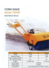 Model YBWB - 3` Walk Behind Broom Brochure