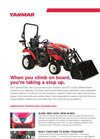 Yanmar - Model SA 221 - Open Platform Tractor with Rops Brochure