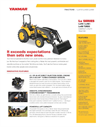 Yanmar - Model Lx450 - Open Platform Tractor with Rops Brochure