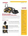 Yanmar - Model Sx3100 - Open Platform Tractor with Rops Brochure