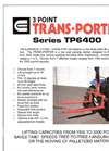 Model TP6400 - 3-Point Trans-Porter Forklifts  Brochure