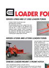 Model LF800 AND LF 1500 - Loader Forks- Brochure