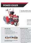 Power Edger Multi-Use, Dedicated-Use or Attachment - Brochure