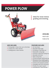 Power Plow 46-Inch Wide Walk-Behind Plow - Brochure