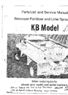 Model KB - Fertilizer or Lime Mounted Spreader Manual