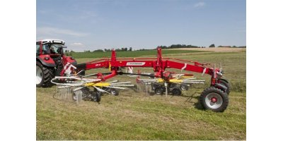 Twin Rotor Windrowers with Side Swath