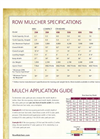 Row Mulcher Specifications- Brochure