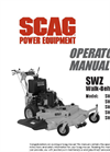 Model SWZ - Hydro Drive Walk Behinds Mowers Brochure