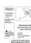 Standard String Trimmer PST67522 - Owners Manual Brochure