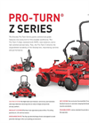 Gravely Pro-Turn - Model Z Series - Commercial Lawn Zero Turn Mowers - Datasheet