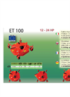 Model ET 100 - Finishing Mower Brochure
