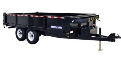 Sure-Trac - Model HD - Deckover Dump Trailer w/Fold-Down Sides