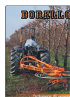 Borello - Model Butterfly Avantime series - Double Rotor Rotary Hay Rake Brochure
