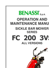 Model FC 210 3VS - Sickle Bar Mowers Brochure