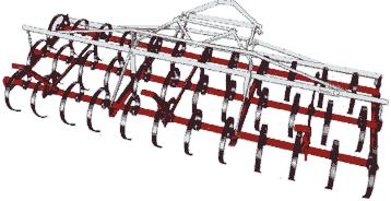 Knowles - Model H Series - Spring Tooth Harrows 3-Point Hitch Pull Type