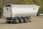 Rounded Steel Body Tipping Semi-Trailer