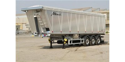 Square Body Tipping Semi Trailer