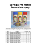 Decoration Spray- Brochure